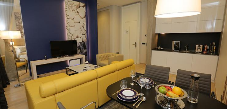 City apartment 45m2 (1 bedroom, 1 living room and a fully-equipped kitchen)